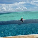 plunge pool on our villa deck
