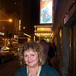 Before the Les Miserables show~excellent with Ramin Karimloo