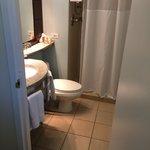 The bathroom was decently sized
