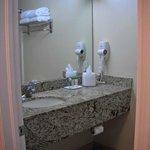 bathroom in deluxe suite