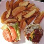 8oz homemade sirloin burger with fries