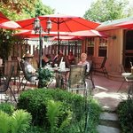 Outdoor rear patio at Davinci Ristorante Restaurant