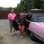 Get to ride a Pink Cadillac on the way to Marlowes!!!