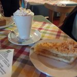 Hot Chocolate and Apple Cake