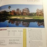 Hotel's description of the golf course we played