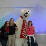 Us with the Coke Polar Bear..