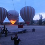 Our first morning in Cappidocia we went hot air ballooning