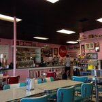 Monday night in June at Holly Hop!! Nice to see a 50's diner without Elvis everywhere.