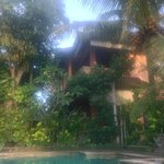 guest house from pool