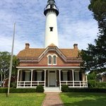 The lighthouse in Saint Simons Island