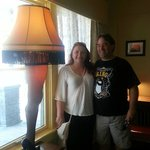 Us with the LEG LAMP!