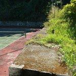 Detalhe da quadra de tênis.