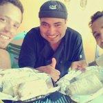 With the burrito master chef!