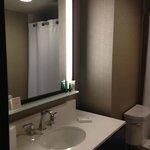 Modern bathroom; very clean and stylish