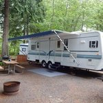 very private and large RV spots