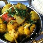 Alu Gobhi - potato & cauliflower with ginger, cumin