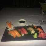 Sashimi selection at tower Restaurant