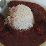 Red Beans & Rice. Nothing special. Sorta bland and sausage not excellent quality.
