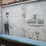An original Banksy Graffti work