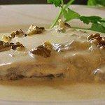 filete de res en salsa gorgonzola y nuez