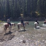 Crossing Bow River