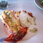 Garlic lobster tail
