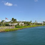 View of Pearl Harbor from USS Bowfin Submarine
