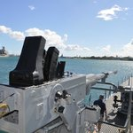 View from USS Bowfin Submarine