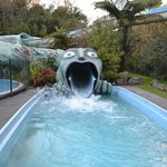 Slide at spa resort