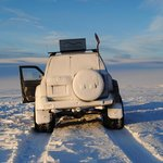 Our trusty off road vehicle on the Golden Circle Tour