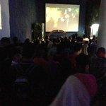 Crowd waiting to enter the oceanarium