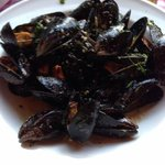wonderful plate of mussels