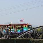 Train passing over Bridge