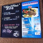 Menu of the day and other regular