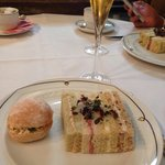 Sandwich selection / champagne afternoon tea !