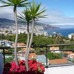 from the rooftop sunbathing area towards Funchal