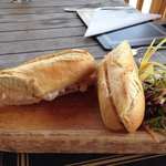 Prawn baguette