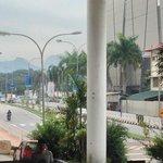 Shopping mall opposite the hotel