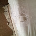 Torn and old Bed Linen