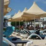 transats et plage privée
