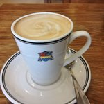 Latte at the abbey Tea Room.