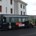 ルーブルランスを宣伝するバス