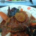 couscous de poisson et salade fruits de mer