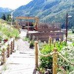 Notre jardin, acces aux sentiers de randonnée