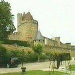 La Cité de Carcassonne vue de l'hôtel du château