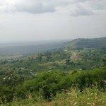 Standing at Kansenene hill, overlooking Kyangabi & Kyansama