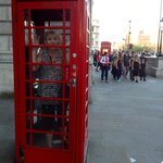 Old time phone booth