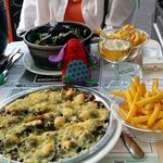 Mussels - steamed and with cheese