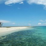 Dumog sandbar a few minutes from Pangangan. One KM stretch of white sand seen only at low tide.