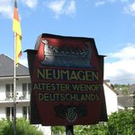 The restaurant is in the pretty town of Neumagen.